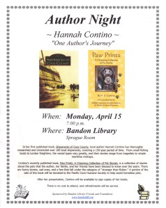 Author Night, Bandon Library Apr 2014