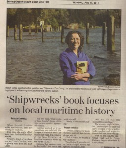 Shipwreck Book Focuses on Local Maritime History by Alice Campbell, The World Newspaper, Apr 11, 2011
