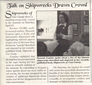 Shipwreck Talk, Waterways May 2011
