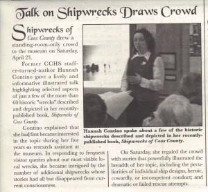 Shipwreck Talk, Waterways May 2011